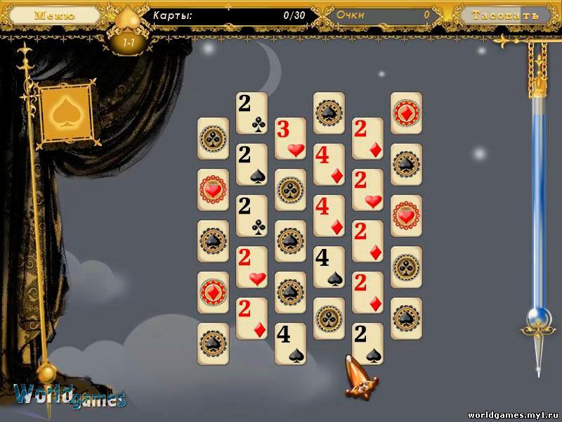 Скриншоты из игры 5 Карточных Королевств - Пасьянсы Скачать Игропарк - порт